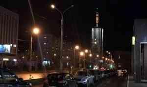 Видео: архангельская высотка в огнях архитектурной подсветки