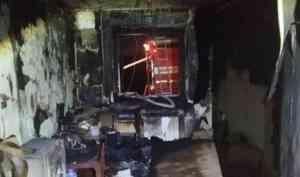 В Архангельске при пожаре полностью выгорела квартира пьяного курильщика