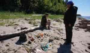 Независимые экоактивисты провели исследование мусора по побережью Онежского полуострова