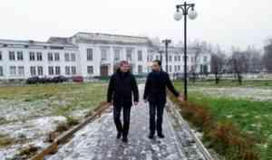 За скользкие тротуары в Архангельске теперь в ответе и главы округов