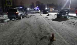 В Коношском районе пьяный и бесправный водитель устроил ДТП, в котором пострадали люди