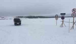 В Архангельской области открываются ледовые переправы