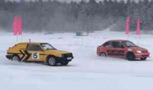 «Горячая» миля: состоялся первый этап ледовых гонок на Кубок Вельского района