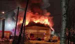 ВАрхангельске загорелись гаражи загипермаркетом «Леруа Мерлен»