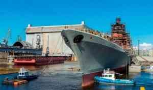 ВСеверодвинске продолжаются ремонт имодернизация атомного крейсера «Адмирал Нахимов»