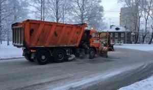 С 20 января к уборке Архангельска приступит «Мезенское дорожное управление»