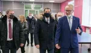 Александр Цыбульский посетил отремонтированную школу иновый детский сад наЛевом берегу