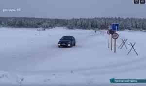 Ледовые переправы Архангельской области наращивают свою грузоподъёмность