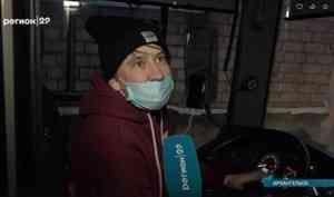 Женское дело: вАрхангельске девушка работает водителем автобуса