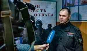 В Архангельске провели пресс-тур в СОБР Росгвардии для аккредитованных журналистов