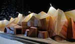 В Пинежском районе появились деревянные горы с пещерой