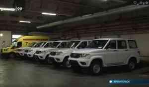 В Архангельской области районные больницы получили новые автомобили