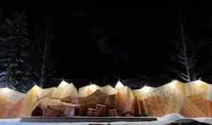 В пинежском парке «Голубино» появились 35-метровые горы от «Сборной Тайболы»