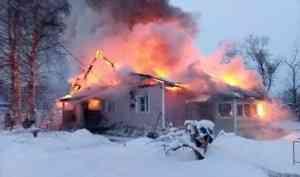 ВИсакогорке сгорел частный деревянный дом