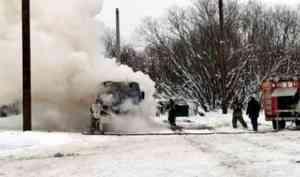 В Архангельске сгорел рейсовый автобус