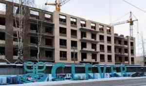 На 1-й очереди ЖК «Clever» в Северодвинске завершается возведение стен 5-го этажа