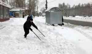 Гололед и снегопад ожидаются в Архангельской области 26 января