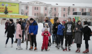 Студенты Архангельской области отметили Татьянин день катанием на коньках
