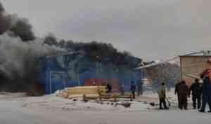 На деревообрабатывающем предприятии в Яренске произошёл пожар