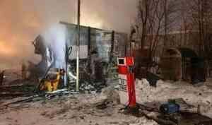 В Архангельске -  пожар на газозаправочной станции