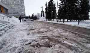 В администрации Архангельска прокомментировали проблему уборки тротуаров
