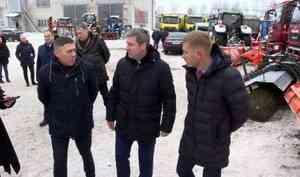 Глава Архангельска Дмитрий Морев побывал сегодня в Мезенском дорожном управлении