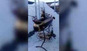 Северодвинский сварщик смастерил подлодку-мангал ко Дню моряка-подводника