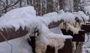 В холмогорской деревне Рембуево вновь замёрзли трубы