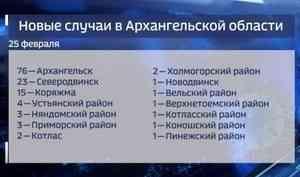 Архангельск вновь влидерах посуточному приросту больных ковидом— 76 человек