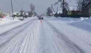 В Вельском районе водитель «Митсубиси» отправил пешехода в больницу