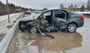 На трассе Архангельск-северодвинск ДТП из трёх автомобилей