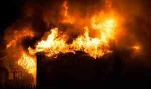 В Архангельске из-за неосторожного курения произошёл пожар в деревянном доме