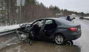 На подъезде к Северодвинску произошла авария, в которой пострадало три человека