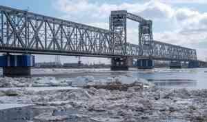 Попрогнозам синоптиков ледоход вАрхангельской области начнётся всередине апреля