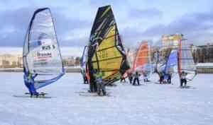 «Ловцы ветра» со всей страны выявляют сильнейших на архангельском льду