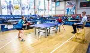 В столице Поморья началось первенство Северо-Запада России по настольному теннису