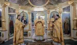 Митрополит Корнилий совершил Литургию в Неделю о Страшном Суде