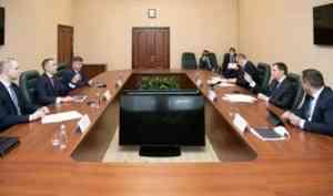 Александр Цыбульский встретился с руководителем «Ростелекома» на Северо-Западе Александром Логиновым