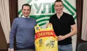 Александр Цыбульский встретился в Устьянском районе с лыжником Александром Большуновым
