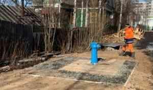 В Архангельске проверили работу и качество благоустройства «умных» водоразборных колонок