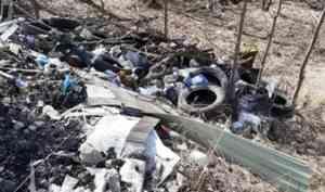 Активисты ОНФ нашли незаконную мусорную свалку в гаражном кооперативе Новодвинска