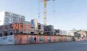 На ЖК «Некст-1» завершается кладка стен 9-го этажа