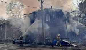 Памятник архитектуры— Дом Брагина вАрхангельске предположительно подожгли подростки
