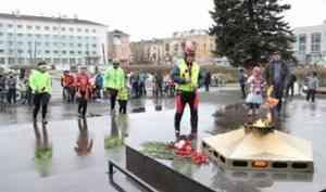 Велопробег между Вечными огнями Северодвинска и Архангельска состоялся в День Победы