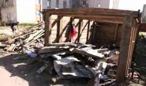 Самый густонаселённый округ Архангельска очистят к августу от самовольных гаражей