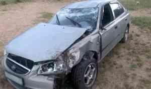 В Котласском районе водитель иномарки погиб после съезда в кювет