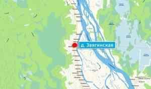 В деревне Звягинской Красноборского района сгорел дом 1911 года постройки