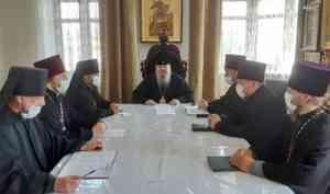 Митрополит Корнилий возглавил совещание, посвященное работе епархиального военного отдела