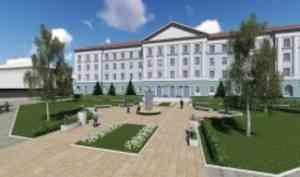 ВАрхангельске начались работы пореконструкции комплекса зданий бывшего Штаба 10-й армии ПВО