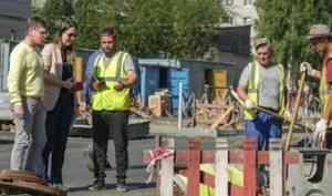 Ремонт дорог и благоустройство территории в Новодвинске проинспектировала группа общественного контроля